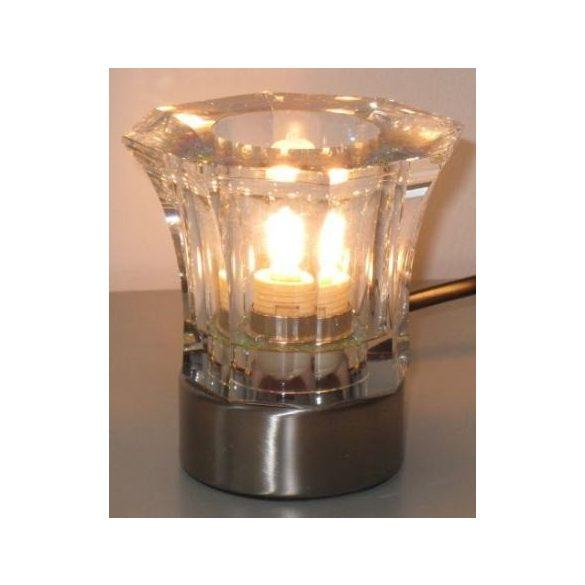 LANDLITE CRISPY/1TB kristály asztali lámpa, G9, max. 1x40W, halogén fényforrással