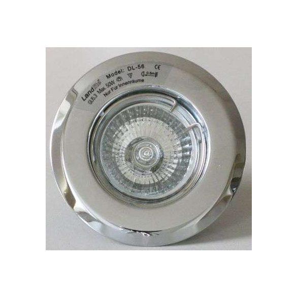 LANDLITE Egyes keret, GU5.3 (MR16) / GU10, fix, króm, max. 50W, spot keret (DL-56)