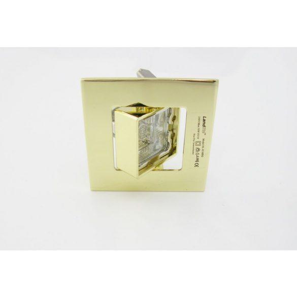 LANDLITE Halogén, GU10, 3x50W, 79x79mm, SQUARE (négyzetes), billenő, arany, spot lámpa szett (KIT-83-3)