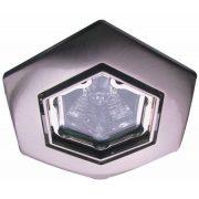 LANDLITE Halogén, GU10, 3x50W, Ø93mm, HEX (hatszögű), billenő, króm, spot lámpa szett (KIT-82-3)