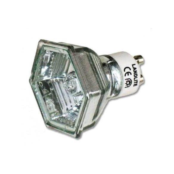 LANDLITE Halogén, GU10, 50W, 950lm, 2900K, HEXAGON (hatszögű), spot fényforrás (MRG-C)