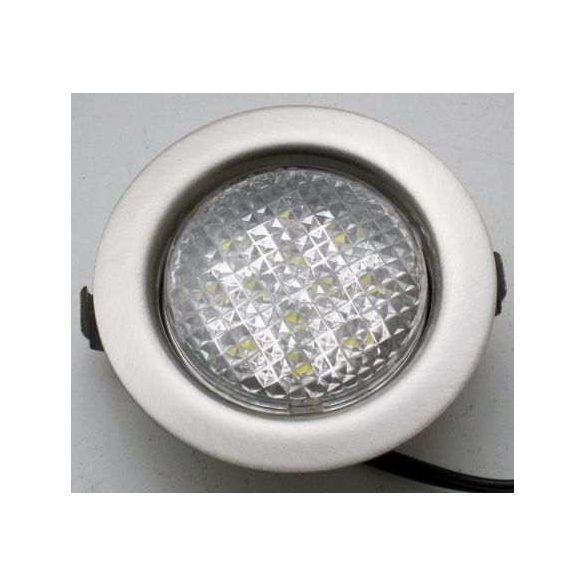 LANDLITE LED-06D-3X1,0W, 3db 1,0W LED 12V, beépíthető lámpa szett (3 db-os LED szett), LED: fehér, lámpa: matt króm