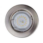 LANDLITE LED, GU10, 3x1,5W, Ø80mm, fix, króm, spot lámpa keret (KIT-57A-3)