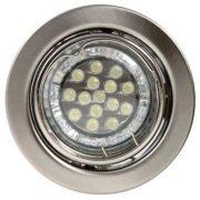 LANDLITE LED, GU10, 3x1,5W, Ø79mm, billenő, króm, spot lámpa szett (KIT-60A-3)