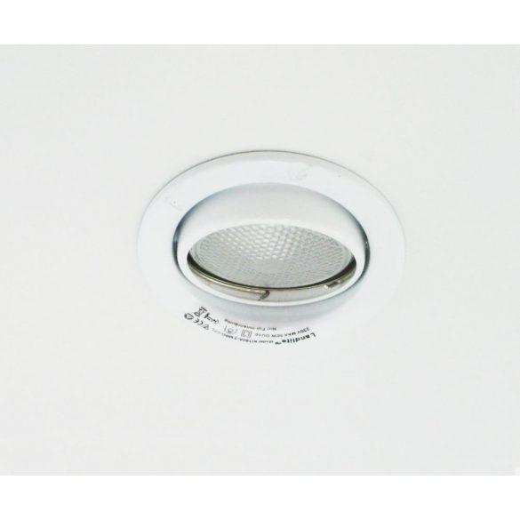 LANDLITE Energiatakarékos, GU10, 3x7W, Ø79mm, billenő, fehér, spot lámpa szett (KIT-60-3)