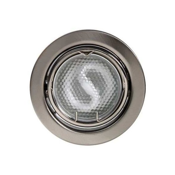 LANDLITE Energiatakarékos, GU10, 3x7W, Ø79mm, billenő, matt króm, spot lámpa szett (KIT-60-3)
