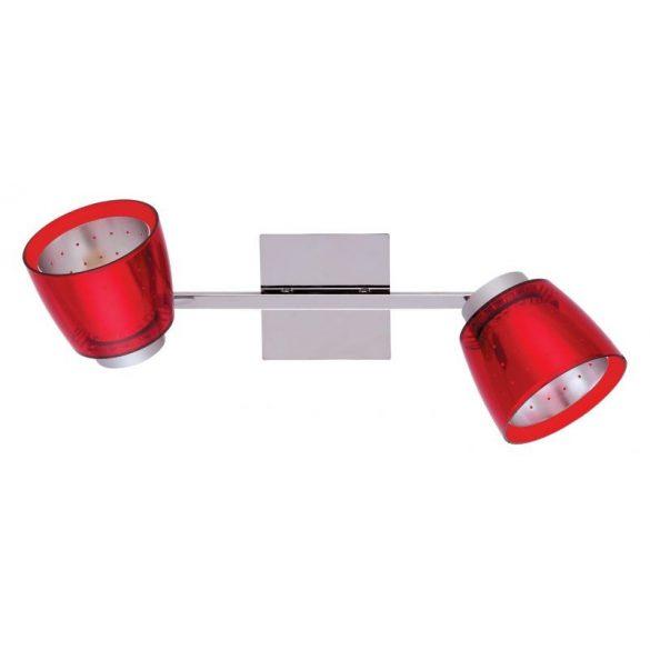LANDLITE FELIX G929-2TU fali/mennyzeti spotlámpa (piros), G9 foglalattal
