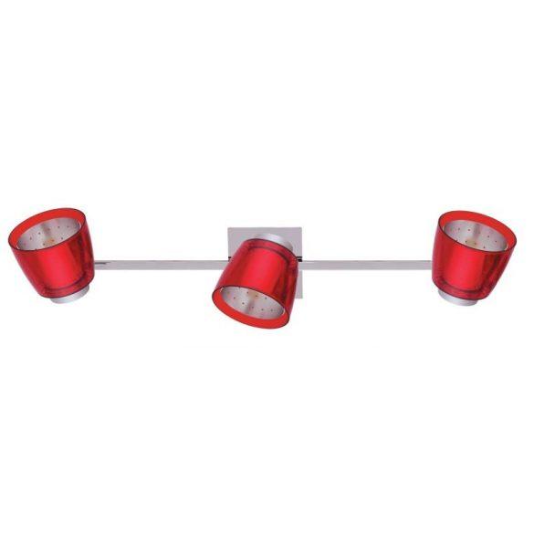 LANDLITE FELIX G929-3TU mennyezeti spotlámpa (piros), G9 foglalattal