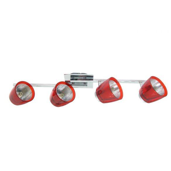 LANDLITE FELIX G929-4TU2 mennyezeti spotlámpa (piros), G9 foglalattal