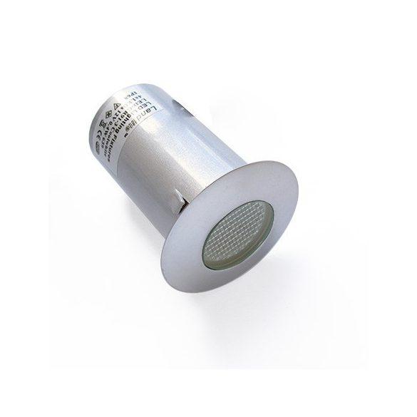 LANDLITE LED-GR91-3, 3x0,4W, 3db-os szett, trafóval, fém szín: szürke, IP68, földbe süllyesztett LED lámpa, LED szín: kék