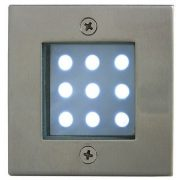 LANDLITE LED-GR92-3, 3x1,0W, 3db-os szett, trafóval, fém szín: matt króm, IP68, földbe süllyesztett LED lámpa, LED szín:hidegfehér