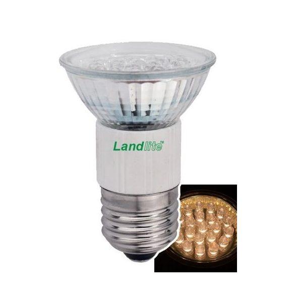 LANDLITE LED, E27, 1.5W, 45lm, melegfehér, spot formájú fényforrás (LED-JDR/21)