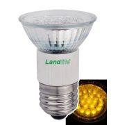 LANDLITE LED, E27, 1.5W, 45lm, sárga, spot formájú fényforrás (LED-JDR/21)