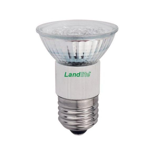 LANDLITE LED, E27, 1.5W, 45lm, kék, spot formájú fényforrás (LED-JDR/21)