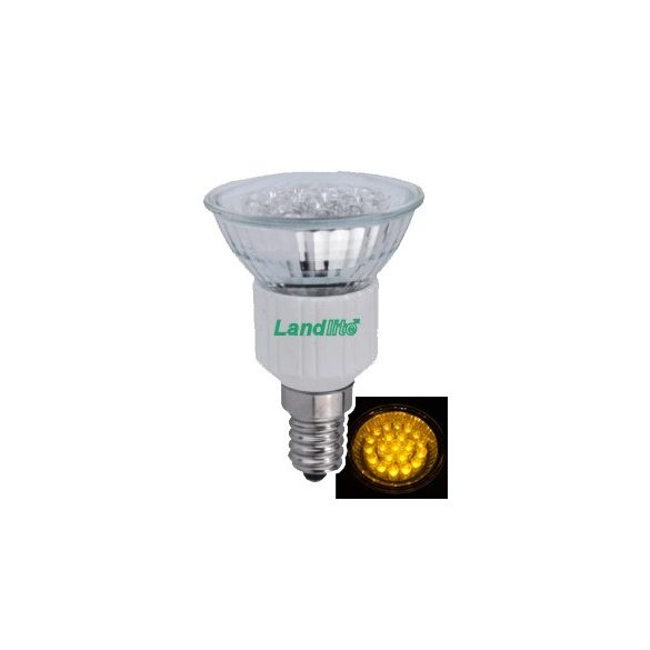 LANDLITE LED, E14, 1.5W, 45lm, sárga, spot formájú fényforrás (LED-JDR/21)