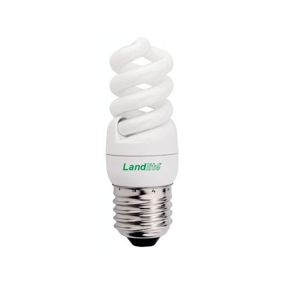 LANDLITE Energiatakarékos, E27, 7W, 290lm, 2700K, spirál formájú fényforrás (ELH/M-7W)
