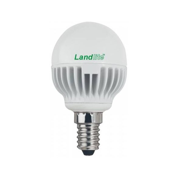 LANDLITE LED, E14, 4W, G45, 260lm, 3000K, kisgömb formájú fényforrás (LED-G45-4W)