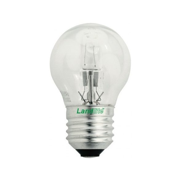 LANDLITE Halogén, E27, 28W, G45, 375lm, 2800K, kisgömb formájú fényforrás (HSL-G45-28W)