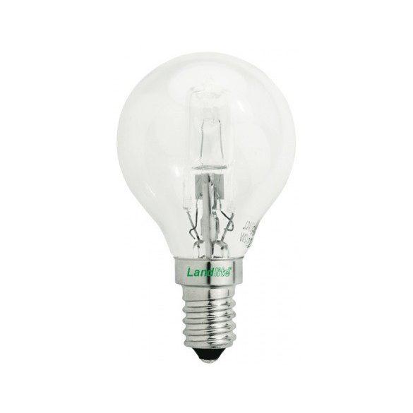 LANDLITE Halogén, E14, 18W, G45, 185lm, 2800K, kisgömb formájú fényforrás (HSL-G45-18W)