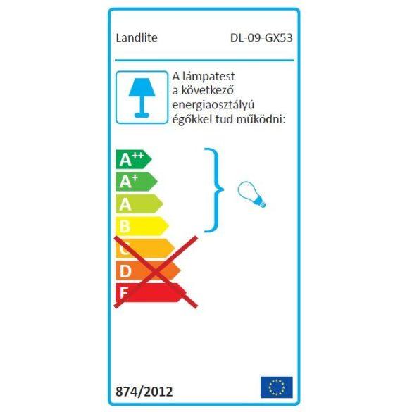 LANDLITE Egyes keret, GX53, fix, egyenes, króm, max. 15W, spot keret (DL-09-GX53)