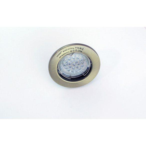 LANDLITE LED, GU10, 3x1,5W, Ø79mm, fix, antik bronz, spot lámpa szett (KIT-57A-3)