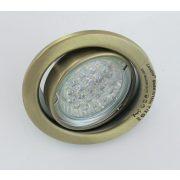 LANDLITE LED, GU10, 3x1,5W, Ø79mm, billenő, antik bronz, spot lámpa keret (KIT-60A-3)