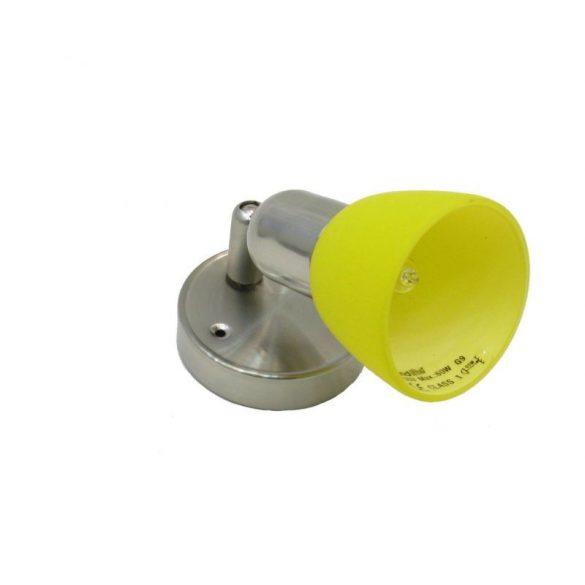 LANDLITE CLE-210A fali spot lámpa,1x60W, sárga búrával, matt kivitel