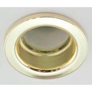 LANDLITE Egyes keret, E14-R50, fix, egyenes, arany, max. 40W, spot keret (DL-610)