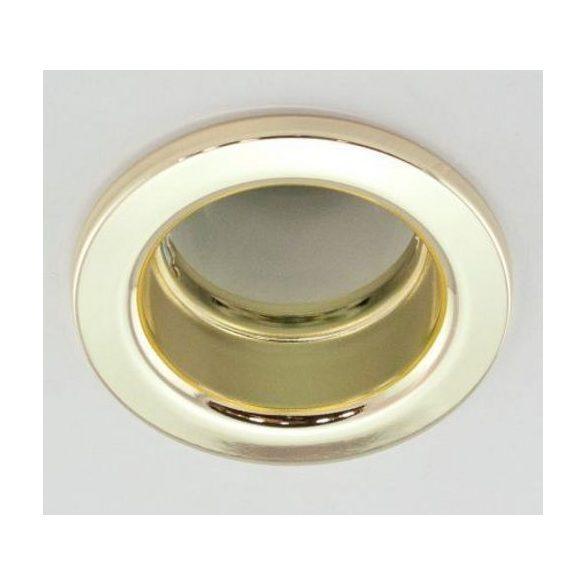 LANDLITE Egyes keret, E27-R80, fix, egyenes, arany, max. 100W, spot keret (DL-630)