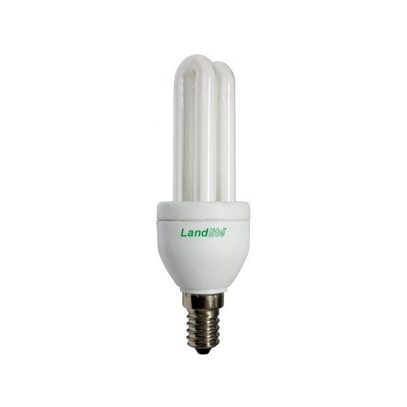 LANDLITE Energiatakarékos, E14, 7W, 280lm, 2700K, U csöves formájú fényforrás (Illumina ELM-7W)