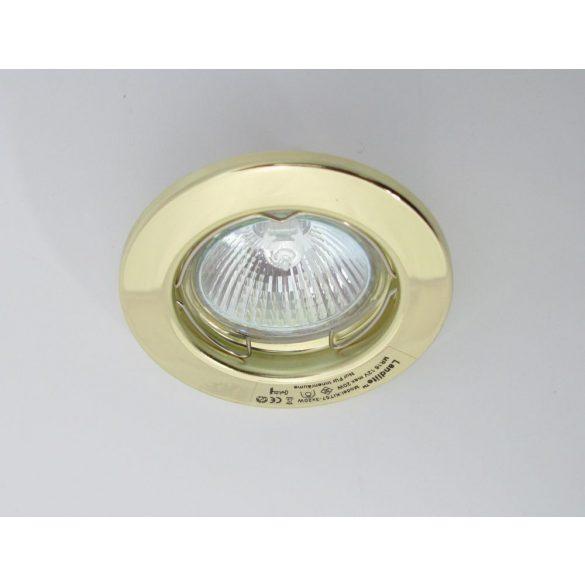 LANDLITE Halogén, GU5.3 (MR16), 3x20W, Ø80mm, fix, arany, spot lámpa szett (KIT-57A-3)