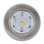 LANDLITE LED, GU10, 3x3W, Ø80mm, fix, matt króm, spot lámpa szett (KIT-57A-3)