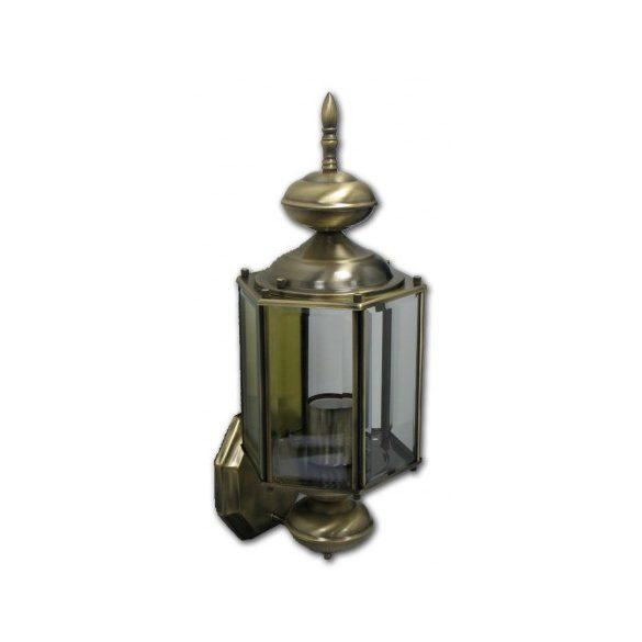 Kültéri antik bronz fali lámpás