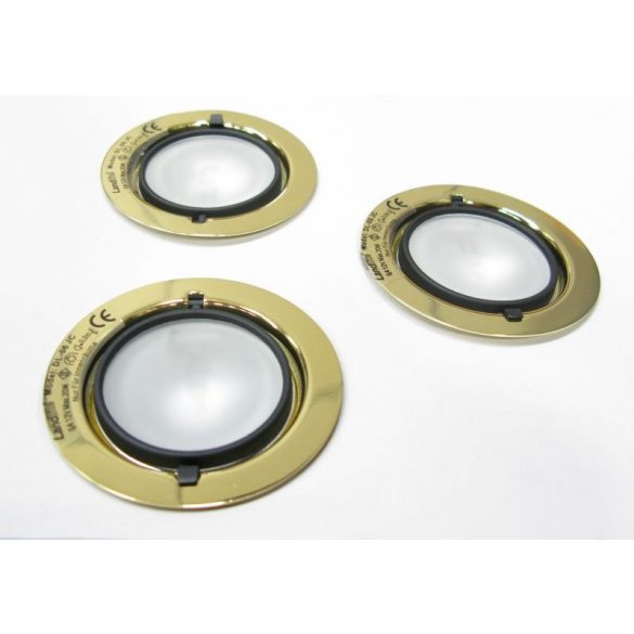 LANDLITE Halogén, G4, 3x20W, Ø70mm, fix, arany, spot lámpa szett (KIT-501-3 (KIT-06-3))