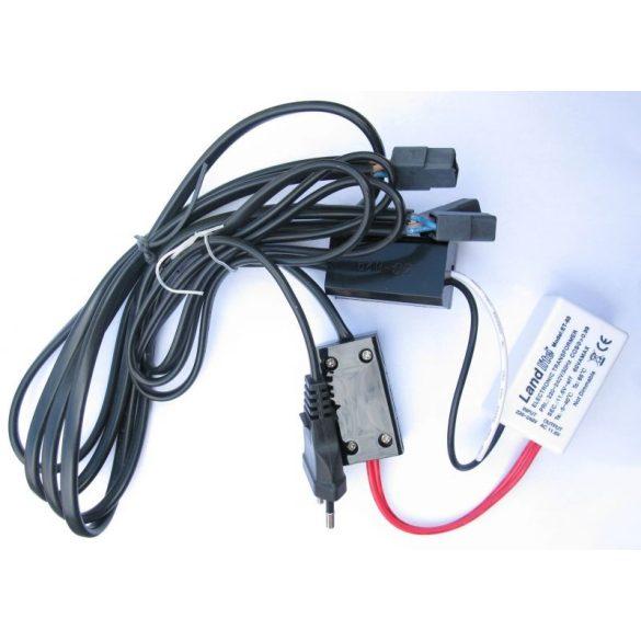 LANDLITE Halogén, G4, 3x20W, Ø70mm, fix, matt króm, spot lámpa szett (KIT-501-3 (KIT-06-3))