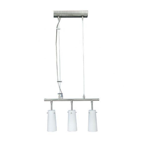 LANDLITE CL-004 függő lámpa, 3x60W, opal üveg, matt nikkel