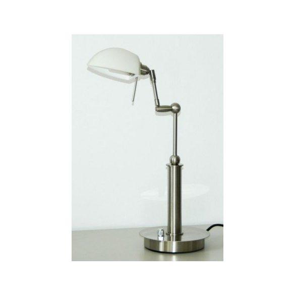 LANDLITE TBT-07 asztali lámpa, G9, max. 1x40W, matt króm, fényszabályozóval, halogén fényforrással