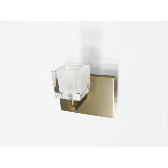 LANDLITE CHRIST-M WS1L, 1x12V JC 35W, antik bronz fali lámpa