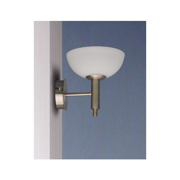 LANDLITE FLOYD moderne Wandlampe 1xG9 40W 230V (matt chrom / weiss Glas)