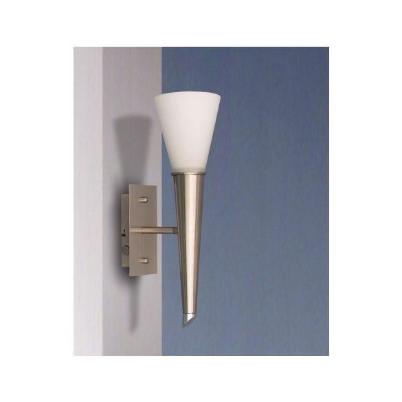 LANDLITE ONELLA modern fali lámpa 1xE14 max 40W 230V (matt króm / fehér üveg)