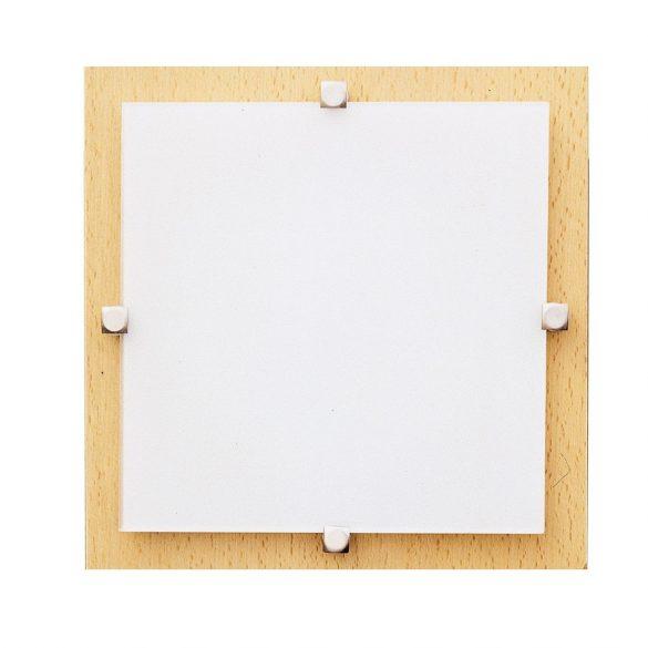 LANDLITE MELIA 16.5 cm 1xG9 40W 230V fa fehér üveggel, fali / mennyezeti lampa