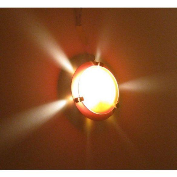 LANDLITE MELISSA D16 modern fali / mennyezeti lámpa 1xG9 40W 230V (antik bronz / fehér üveg)