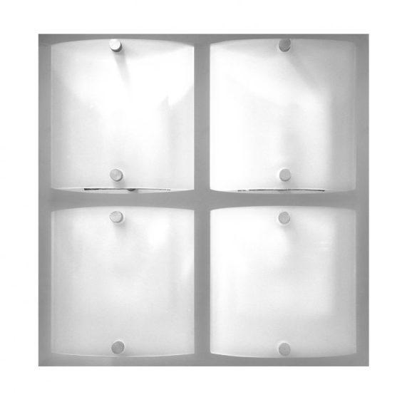 LANDLITE ARTUS 1174 modern fali / mennyezeti lámpa 4xG9 40W 230V (króm / matt-fehér üveg)