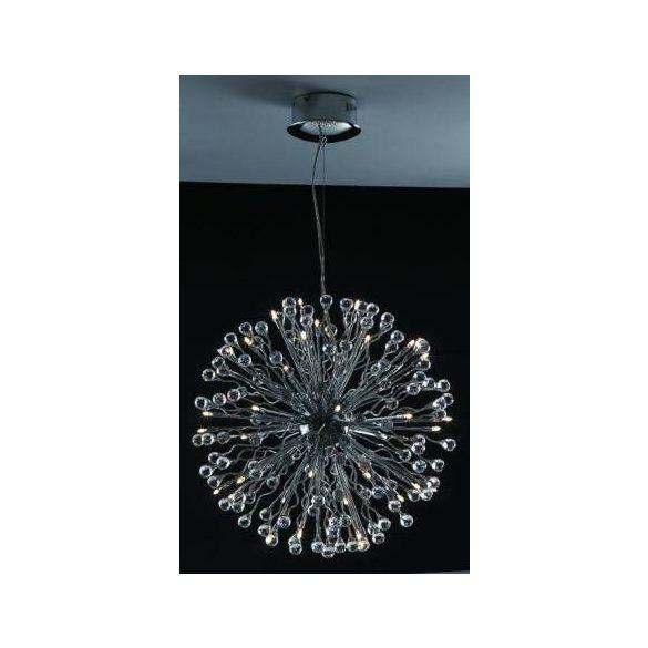 LANDLITE MONACO, MD2206/40, 40xG4 12V 10W halogén, króm, kristály lámpa