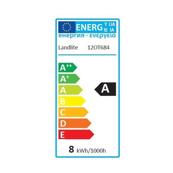 LANDLITE LED, E27, 8W, A60, 600lm 2800K, körte formájú fényforrás (LDM-A60-8W/1)