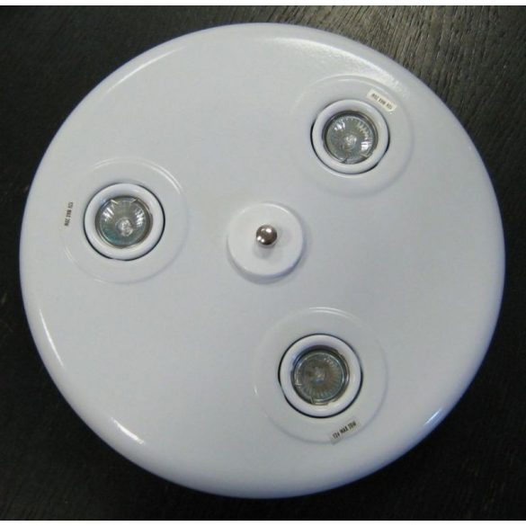 LANDLITE CLR110-3 halogén mennyezeti lámpa 3xMR11, 12V, 20W fehér színben